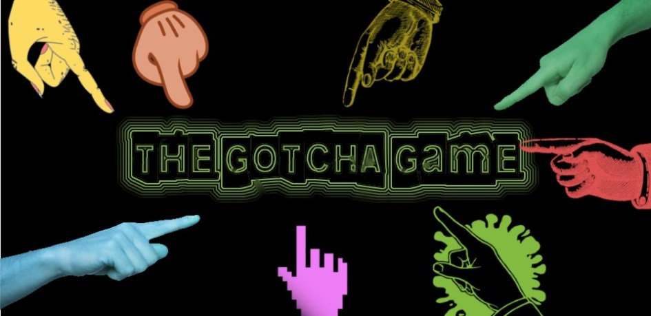 Gotcha Game banner image with pointing fingers