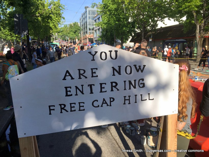 now entering free Capitol Hill