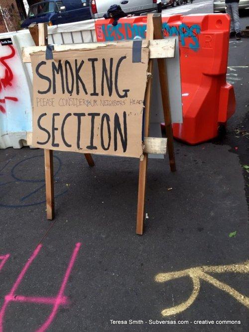 smoking section, capital hill autonomous zone