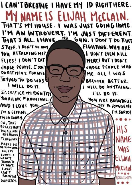 Elijah McClain last words black lives matter