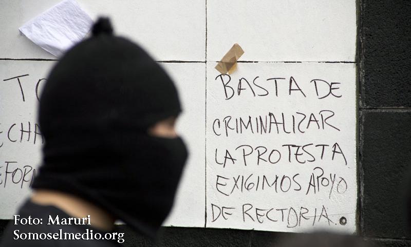 """México, D.F a 24/Abril/2013.POR 5to DÍA CONSECUTIVO SIGUE TOMADA RECTORIA DE LA """"UNAM"""".INSTALAN PLANTÓN INDEFINIDO EN LA EXPLANADA DE RECTORÍA."""