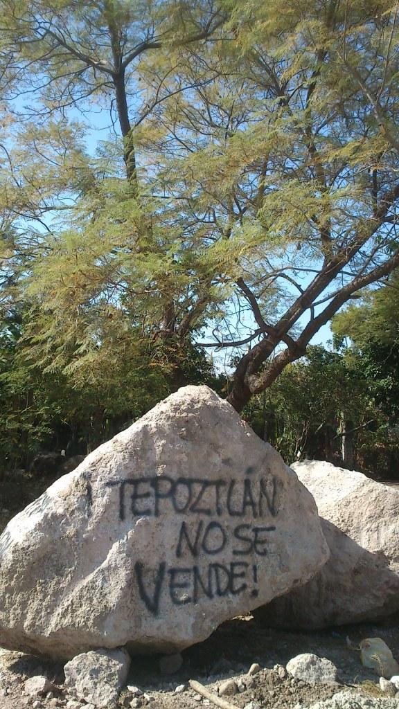 ¡Tepoztlán no se vende! Fotografía: Gustavo Flores