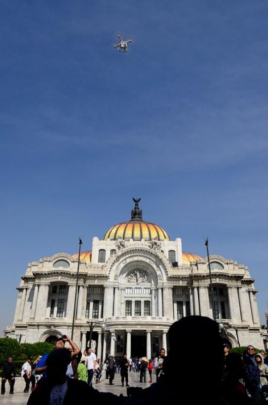 Drones en Bellas Artes Fotografía: Alejandro Amado