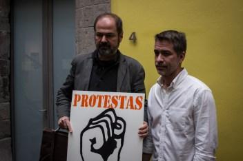 Juan Villoro y Darío Ramírez, director de Artículo 19 en México y Centroamérica