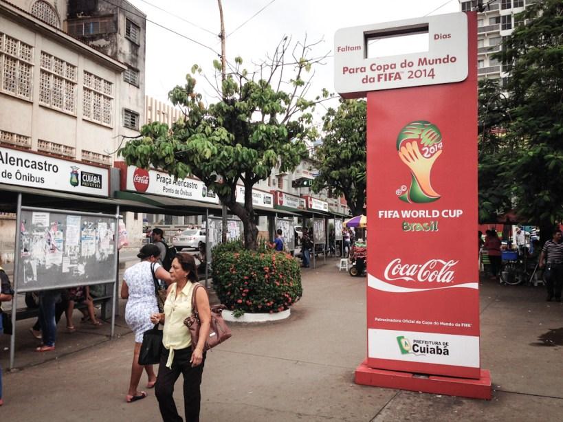 Cuiabá, capital de Mato Grosso y una de las cedes de la Copa Mundial de Fútbol. Fotografía: Heriberto Paredes