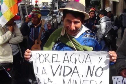 Con la Ley Minera muere todo lo que hemos hecho en la Guerra del Agua
