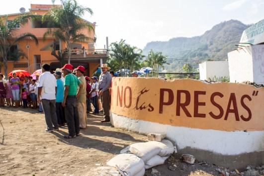 """""""Esta es una lucha difícil, por que es contra el gobierno, son quienes propician la ilegalidad y amparan a las empresas en contra de los pueblos""""."""