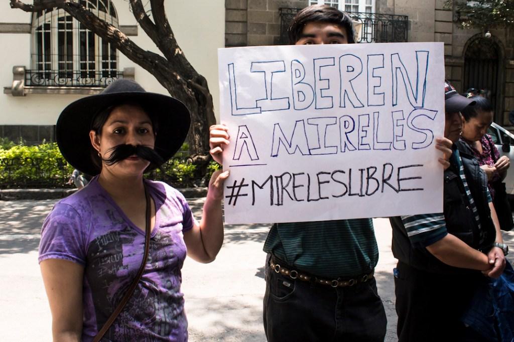 A la conferencia de prensa acudieron cerca de 40 personas para manifestar su apoyo a la delegación michoacana.