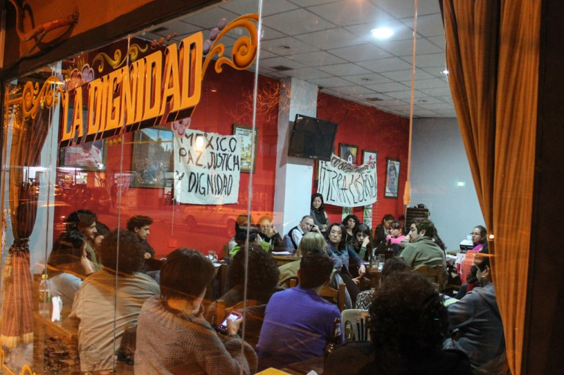 Bar La Dignidad. Fotografía: Asamblea de mexicanxs residentes en Argentina