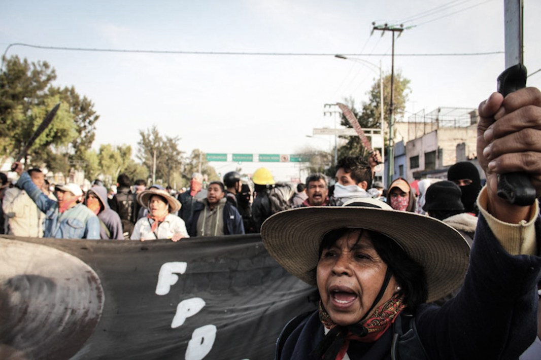 El Frente de Pueblos en Defensa de la Tierra es una de las organizaciones con mayor cantidad de agravios en los últimos años; también es promotor y referente del TPP Capítulo México. Fotografía: Heriberto Paredes