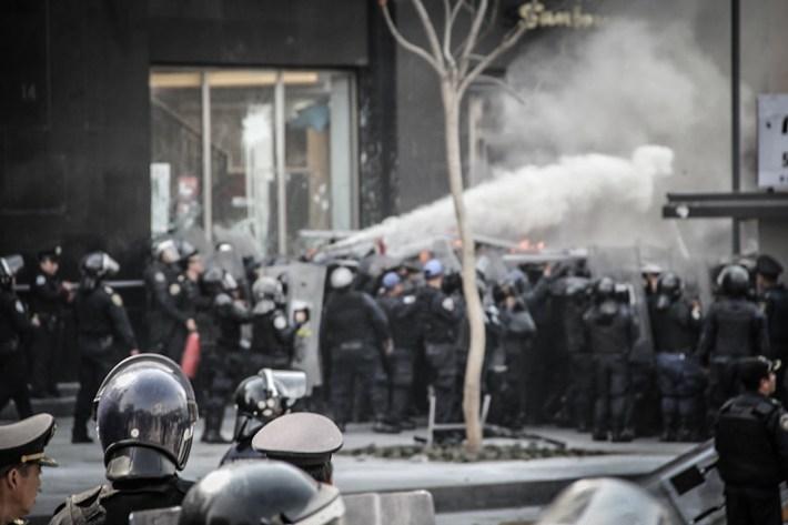 La represión en el país ha aumentado en los últimos dos años, es decir, en lo que va de gobierno de Enrique Peña Nieto. Fotografía: Heriberto Paredes