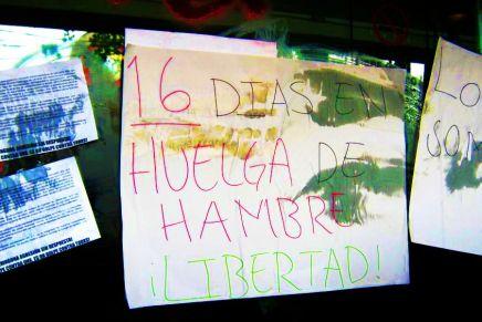Bloquean Tlalpan en apoyo a los presos anarquistas en huelga de hambre