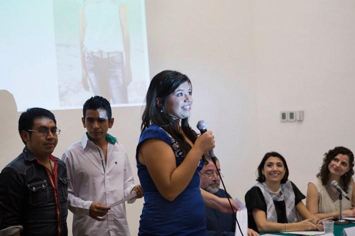 Azul Uribe, integrante del colectivo Los Otros Dreamers