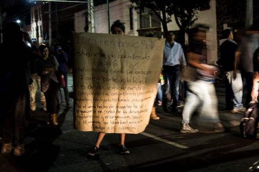 Protesta por la libertad de Luis Fernando Sotelo. Ciudad de México, 2014. Foto: Xilonen Pérez