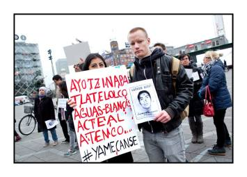 Copenhague, Colectivo Ayotzinapa Dinamarca