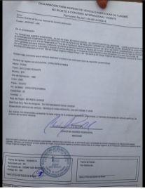 Permiso en regla que permite al Chebus transitar legalmente. Fotografía: Activismo Global