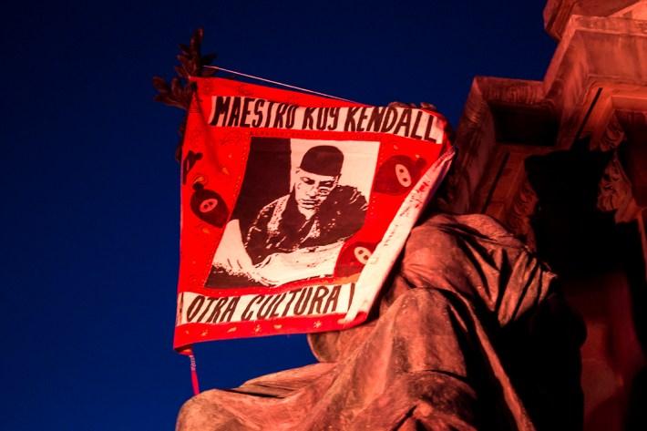 """""""Kuykendall no murió, el gobierno lo mató"""". Fotografía: Colectivo1DMX"""