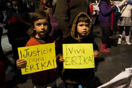 Niñxs exigen justicia para Érika. Fotografía: Polly Krac