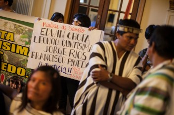 Edwin Chota denunció la tala ilegal de madera durante 10 años. Debido a ello fue asesinado. Foto:Juliana Bittencourt