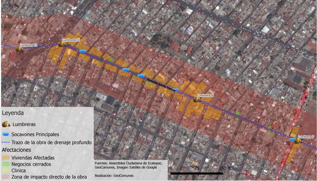 La avenida Santa Teresa