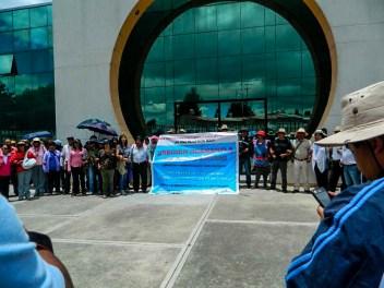 Toma simbólica de las instalaciones del Sindicato de la Sección 31 SNTE. Fotografía: Anaeli Carro