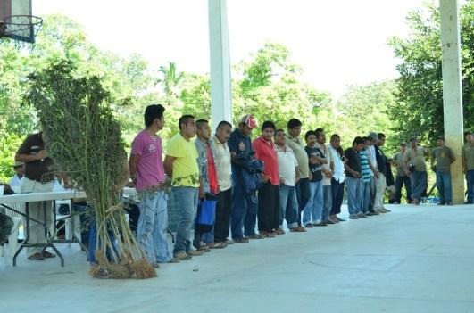 Presentación de los detenidos a la asamblea regional. Operativo de la CRAC-PC de los pueblos fundadores. Octubre del 2014. Fotografía: José Luis Santillán