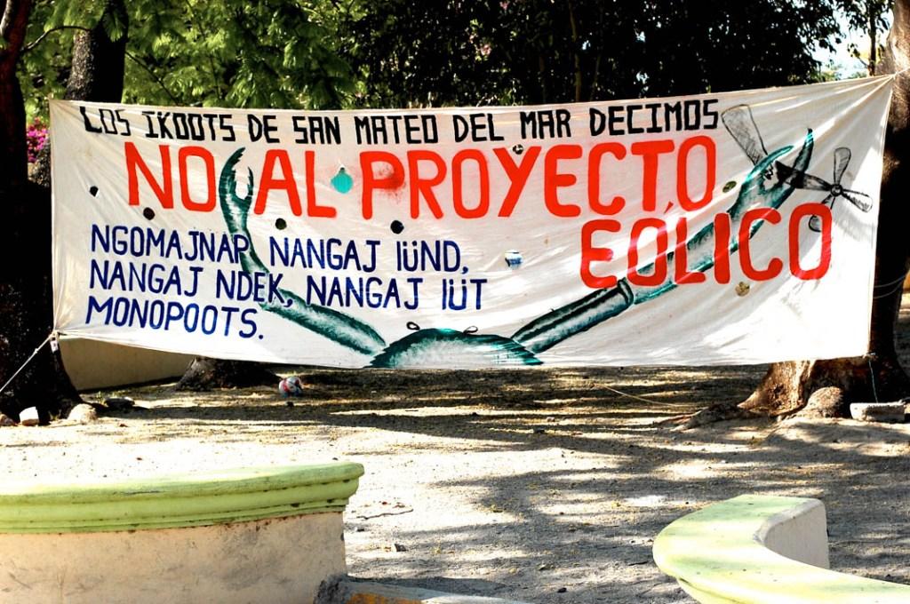 No al Proyecto Eólico, abril 2014. Fotografía: La Pirata