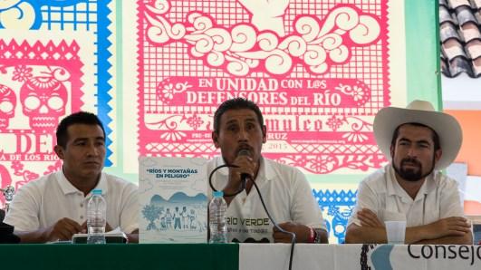 Presencia oaxaqueña del Consejo de Pueblos Unidos en Defensa del Río Verde, COPUDEVER