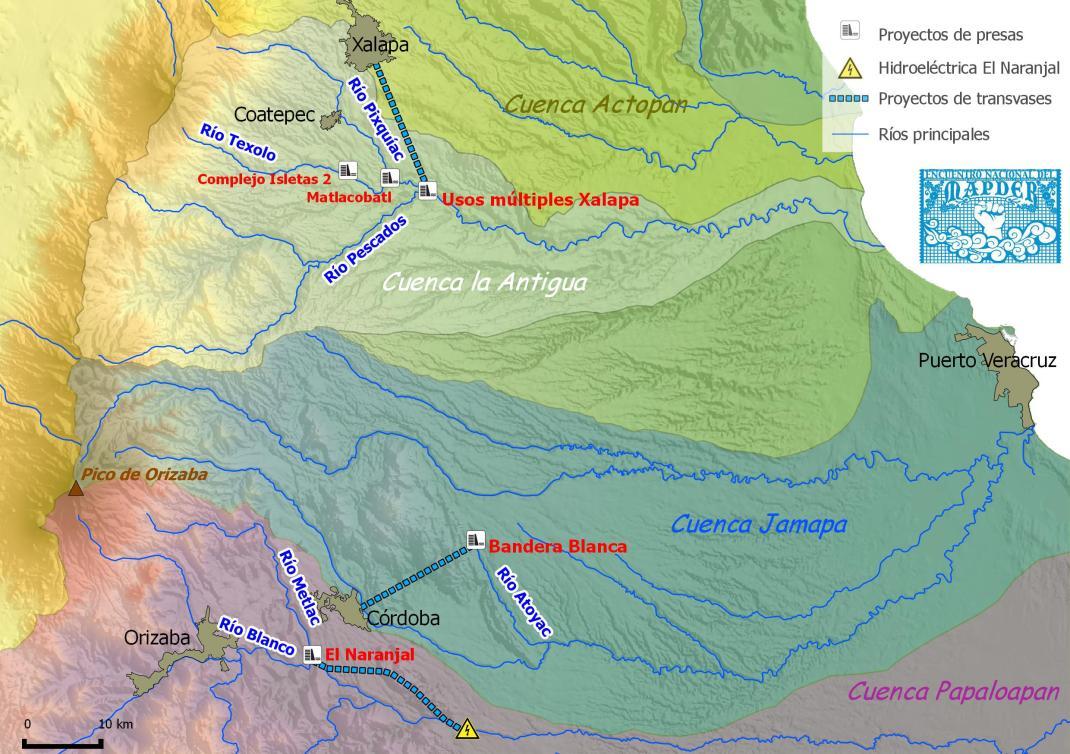 Las cuencas del centro de Veracruz. Realización: Geocomunes