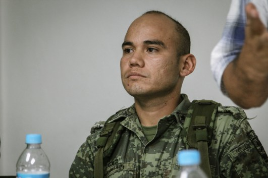 Teniente de infantería Alfonso Padilla SánchezFotografía: Heriberto Paredes