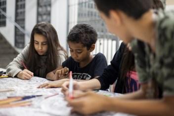 22 de novembro de 2015. Atividades culturais na E.E. Heloisa de Assumpção durante ocupação dos alunos contra a reorganização escolas. Quitaúna, Osasco.