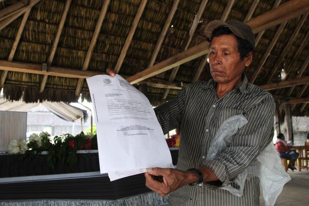 Padre de Hidelberto Reyes. Fotografía: Miguel Ochoa