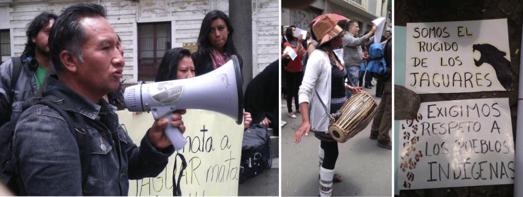 Protesta del 16 de febrero. Fotos: Chasqui