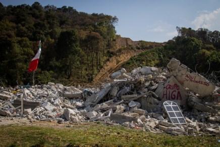 Gobierno y empresa imponen por la fuerza la autopista Toluca-Naucalpan en Xochicuautla