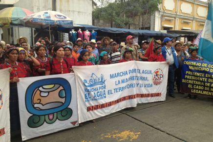 Guatemala: Marcha por el Agua llega a su fin