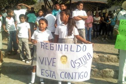 Ostula se moviliza en memoria de Reginaldo Rodríguez Flores