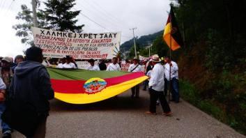 Marcha de las comunidades del pueblo Ayuujk, 22 de Junio del 2016. Foto: Radio Jenpoj