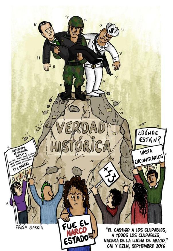 A dos años de la desaparición forzada de los 43 normalistas de Ayotzinapa.