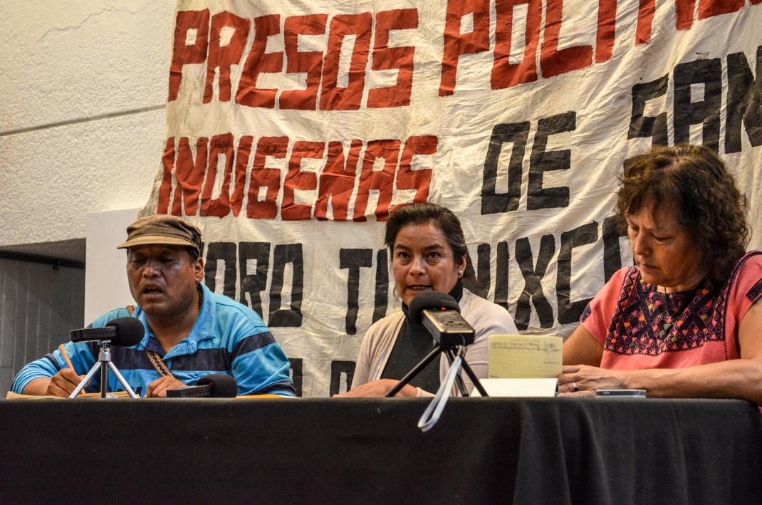 Inicio de la campaña por la libertad de las y los defensores por el agua y la vida de San Pedro Tlanixco. Foro José Revueltas. UNAM.
