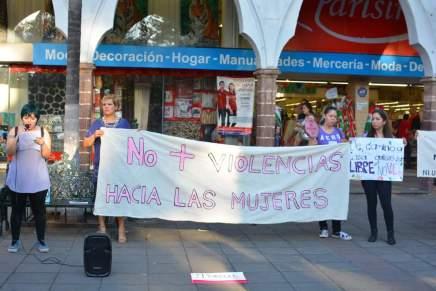 Movilización contra las violencias machistas en Zamora, Michoacán