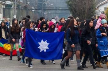 Estudiantes secundarios mapuche Temuco (foto Felipe Durán)