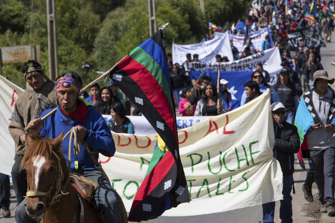 Movilización mapuche 2 (foto Felipe Durán)