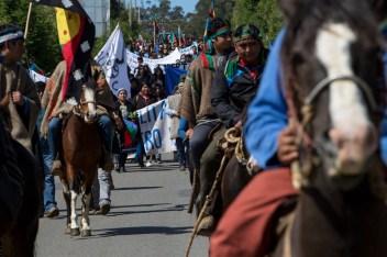 Movilización mapuche (foto Felipe Durán)