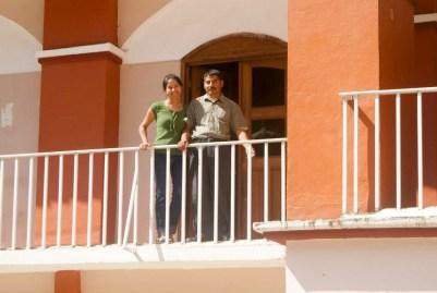 Elisa y Manuel Zepeda durante la toma del Palacio Municipal