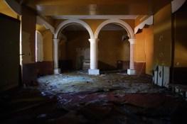 Interior de la alcaldía de Masaya, incendiada durante los primeros días de la insurrección popular