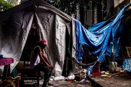 Desalojo de una comunidad otomí en la Ciudad de México