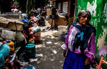 Vecina desalojada de Londres #7 y Roma #18 en la colonia Juárez, desalojado por el juzgado 39 penal.