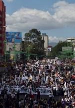 Comité del 68 encabezando la marcha Foto por Ita Ramirez
