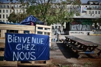 17 oct. 2018. La Plana contra La Soleam, día 7. El corazón de la plaza donde tenemos nuestras asambleas. «Bienvenido a casa»