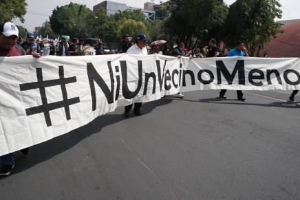 Desalojados de la ciudad de México apuntan que los Tribunales colaboran con el despojo
